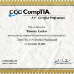 Comptia Certificate